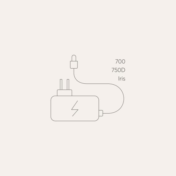 Bodyclock Luxe 700/750D, Iris mains power adaptor photo