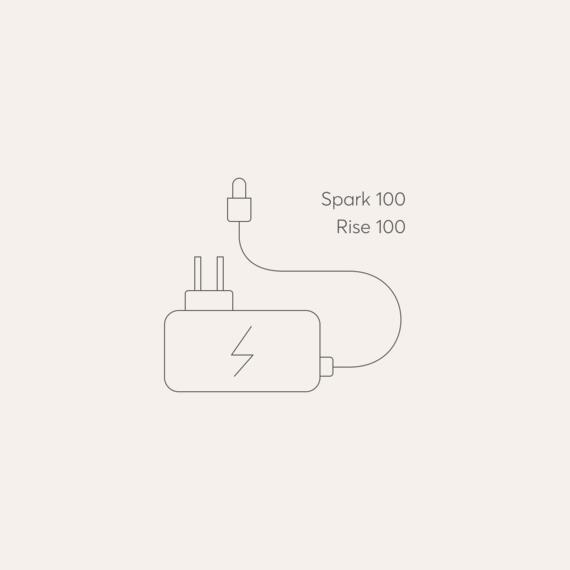 Bodyclock Spark 100, Rise 100 mains power adaptor photo