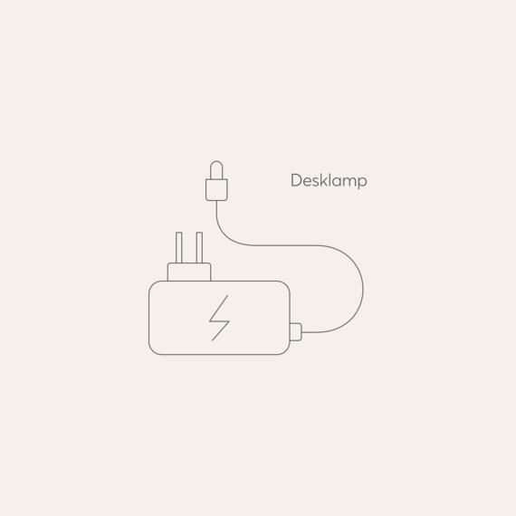 Desklamp mains power adaptor photo